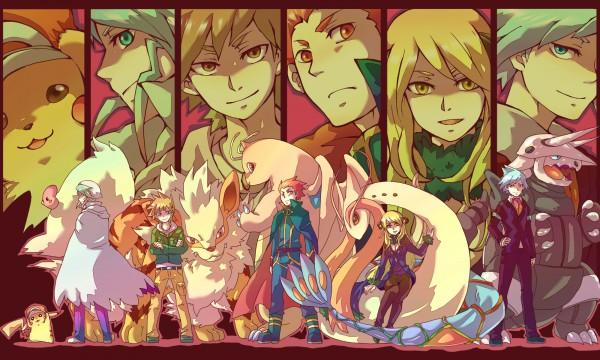 Tags: Anime, Gline, Pokémon SPECIAL, Pokémon, Pikachu, Dragonite, Mikuri (Pokémon), Green (Pokémon), Wataru (Pokémon), Shirona (Pokémon), Aggron, Milotic, Luvdisc