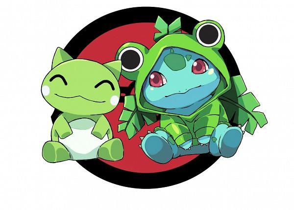 Tags: Anime, Pixiv Id 1205903, Pokémon, Bulbasaur, Frog Hood, Frog Costume, Substitute (Pokémon), Fanart From Pixiv, Fanart, Pixiv