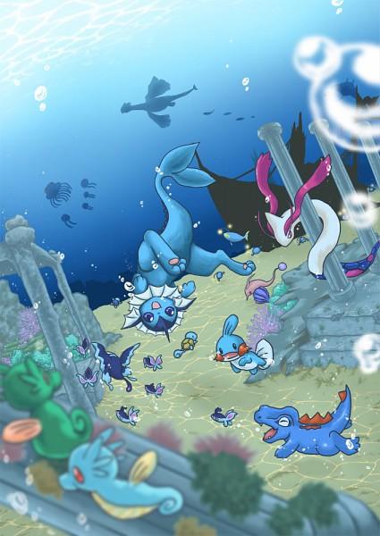 Tags: Anime, PARO, Pokémon, Tentacool, Lumineon, Mudkip, Shellder, Lugia, Squirtle, Mantine, Lanturn, Finneon, Horsea