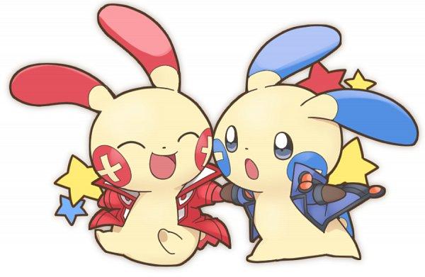 Tags: Anime, Pixiv Id 9713212, Pokémon, Minun, Plusle, Yusei Fudo (Cosplay), Juudai Yuuki (Cosplay), Fanart, Pixiv, Fanart From Pixiv