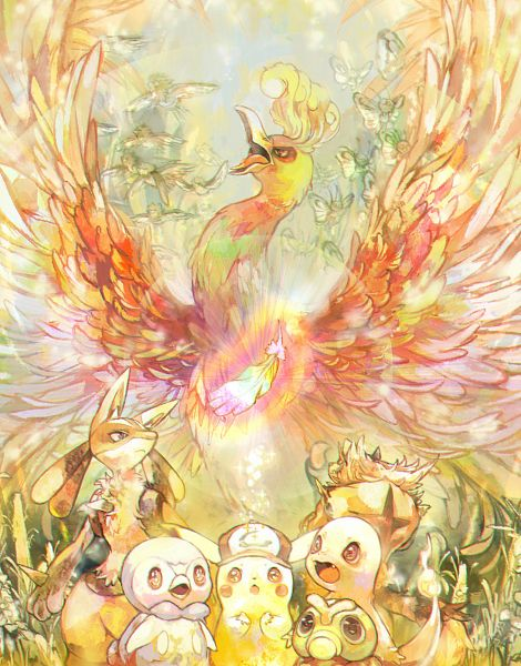 Tags: Anime, Pixiv Id 884938, Pokémon, Lucario, Butterfree, Spearow, Charmander, Incineroar, Ho-oh, Piplup, Caterpie, Pikachu, Legendary Pokémon