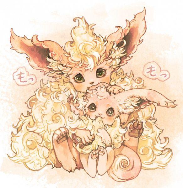 Tags: Anime, Pixiv Id 884938, Pokémon, Eevee, Flareon, Twitter, Fanart