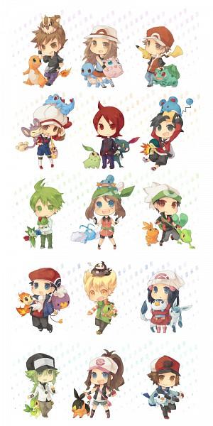 Tags: Anime, Seto Ao, Pokémon, Marill, Tepig, Piplup, Hibiki (Pokémon), Kouki (Pokémon), Aipom, Mudkip, Jigglypuff, Drifloon, Hikari (Pokémon)