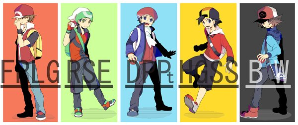 Tags: Anime, Pixiv Id 343894, Pokémon Gold & Silver, Pokémon Red & Green, Pokémon Ruby & Sapphire, Pokémon Black & White, Pokémon, Touya (Pokémon), Hibiki (Pokémon), Fire (Pokémon), Yuuki (Pokémon), Kouki (Pokémon), Facebook Cover