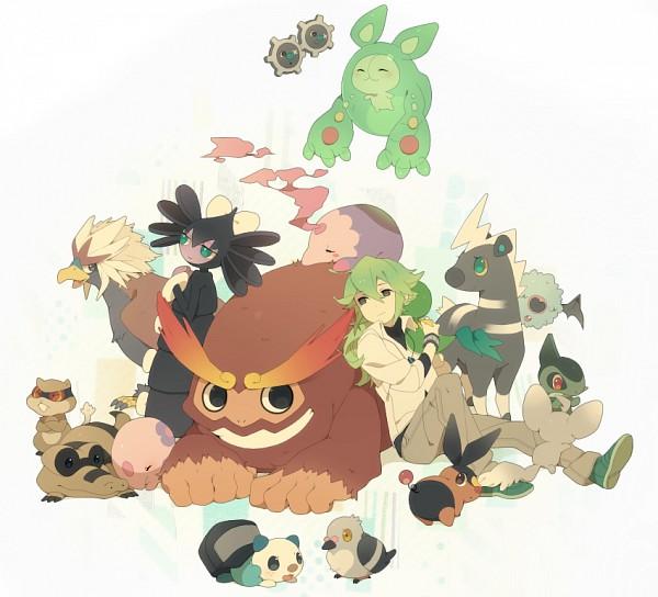 Tags: Anime, Kokemomo Sayakusa, Pokémon, Munna, N (Pokémon), Woobat, Braviary, Minccino, Axew, Snivy, Blitzle, Patrat, Musharna