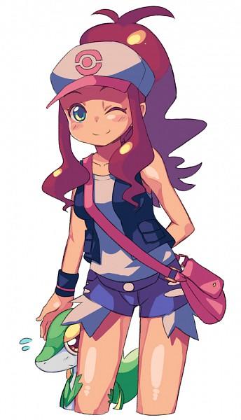 Tags: Anime, Pokémon, Snivy, Touko (Pokémon)