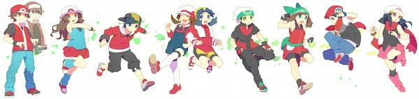 Tags: Anime, Kokemomo Sayakusa, Pokémon, Leaf (Pokémon), Haruka (Pokémon), Kris (Pokémon), Hikari (Pokémon), Fire (Pokémon), Red (Pokémon), Yuuki (Pokémon), Kotone (Pokémon), Kouki (Pokémon), Hibiki (Pokémon)