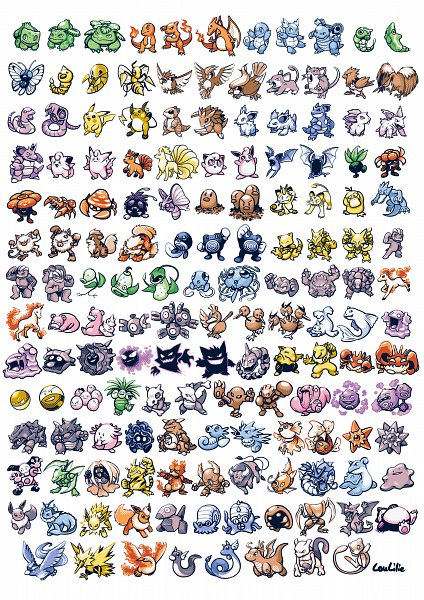 Tags: Anime, Loulilie, Pokémon, Magnemite, Mewtwo, Machamp, Flareon, Dratini, Oddish, Electabuzz, Nidorina, Zubat, Poliwhirl