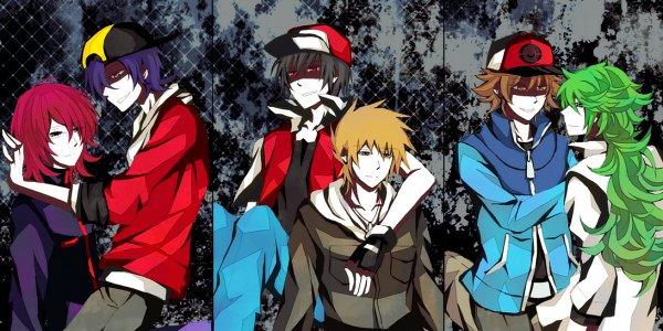 Tags: Anime, Xaikra (Artist), Pokémon Gold & Silver, Pokémon Red & Green, Pokémon Black & White, Pokémon, Silver (Pokémon), Hibiki (Pokémon), N (Pokémon), Green (Pokémon), Red (Pokémon), Touya (Pokémon), PNG Conversion