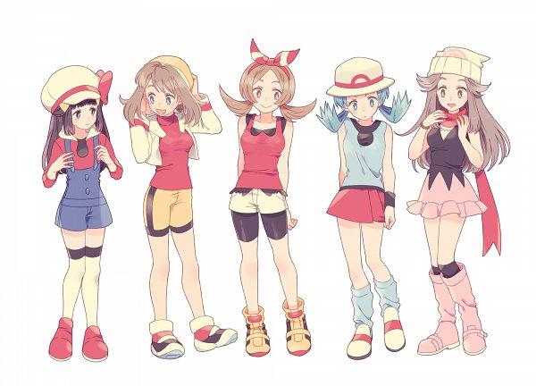Tags: Anime, Komasawa (Fmn-ppp), Pokémon Gold & Silver, Pokémon Red & Green, Pokémon Ruby & Sapphire, Pokémon Diamond & Pearl, Pokémon, Haruka (Pokémon), Hikari (Pokémon), Leaf (Pokémon), Kris (Pokémon), Kotone (Pokémon), Leg Warmers
