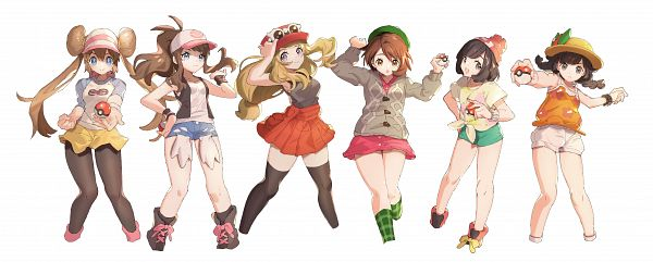 Tags: Anime, Hatokea, Black and White 2, Pokémon Sword & Shield, Pokémon Sun & Moon, Pokémon X & Y, Pokémon Black & White, Pokémon Ultra Sun & Moon, Pokémon, Female Protagonist (Pokémon Ultra Sun/Moon), Mei (Pokémon), Mizuki (Pokémon), Touko (Pokémon)