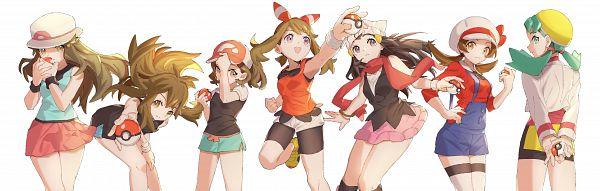 Tags: Anime, Hatokea, Pokémon Diamond & Pearl, Pokémon Gold & Silver, Pokémon Red & Green, Pokémon: Let's Go Pikachu! & Let's Go Eevee!, Pokémon Ruby & Sapphire, Pokémon, Kotone (Pokémon), Haruka (Pokémon), Ayumi (Pokémon: Let's Go Pikachu! & Let's Go Eevee), Hikari (Pokémon), Leaf (Pokémon)