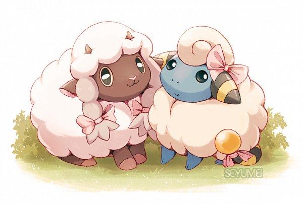 Tags: Anime, Seyumei, Pokémon Gold & Silver, Pokémon Sword & Shield, Pokémon, Mareep, Wooloo, Tumblr