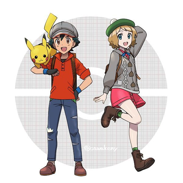 Tags: Anime, Pixiv Id 479862, Pokémon (Anime), Pokémon X & Y, Pokémon Red & Green, Pokémon Sword & Shield, Pokémon, Pikachu, Serena (Pokémon), Satoshi (Pokémon), Male Protagonist (Pokémon Sword & Shield) (Cosplay), Female Protagonist (Pokémon Sword & Shield) (Cosplay)