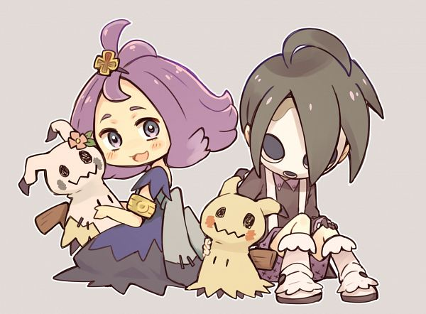 Tags: Anime, Pixiv Id 1955658, Pokémon Sword & Shield, Pokémon Ultra Sun & Moon, Pokémon Sun & Moon, Pokémon, Acerola, Onion (Pokémon), Mimikyu, Shiny Pokémon