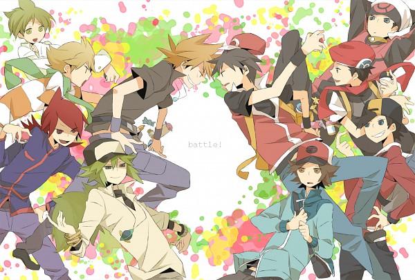 Tags: Anime, Kinari, Pokémon, Hibiki (Pokémon), Mitsuru (Pokémon), Kouki (Pokémon), Green (Pokémon), N (Pokémon), Red (Pokémon), Yuuki (Pokémon), Silver (Pokémon), Touya (Pokémon), Jun (Pokémon)