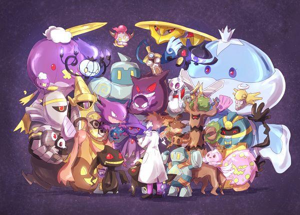 Tags: Anime, Pixiv Id 657258, Pokémon Diamond & Pearl, Pokémon Gold & Silver, Pokémon Ruby & Sapphire, Pokémon Red & Green, Pokémon X & Y, Black and White 2, Pokémon Black & White, Pokémon, Drifblim, Phantump, Duskull