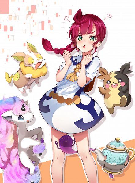 Tags: Anime, Pixiv Id 30853048, Pokémon (Anime), Pokémon Sword & Shield, Pokémon, Morpeko, Yamper, Koharu (Pokémon), Ponyta, Polteageist, Broken Glass, Alternate Appearance, Galar Form