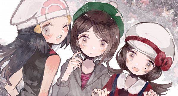 Tags: Anime, Pixiv Id 2169017, Pokémon Sword & Shield, Pokémon Diamond & Pearl, Pokémon Gold & Silver, Pokémon, Kotone (Pokémon), Hikari (Pokémon), Female Protagonist (Pokémon Sword & Shield)