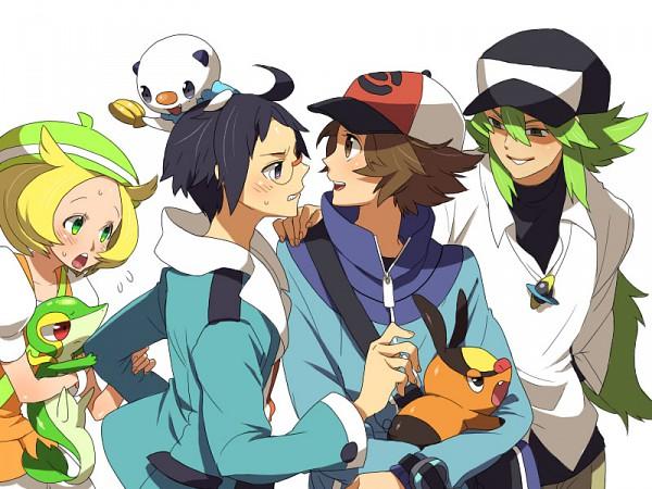 Tags: Anime, Pokémon, Tepig, Bel (Pokémon), Touya (Pokémon), Cheren (Pokémon), Snivy, N (Pokémon), Oshawott