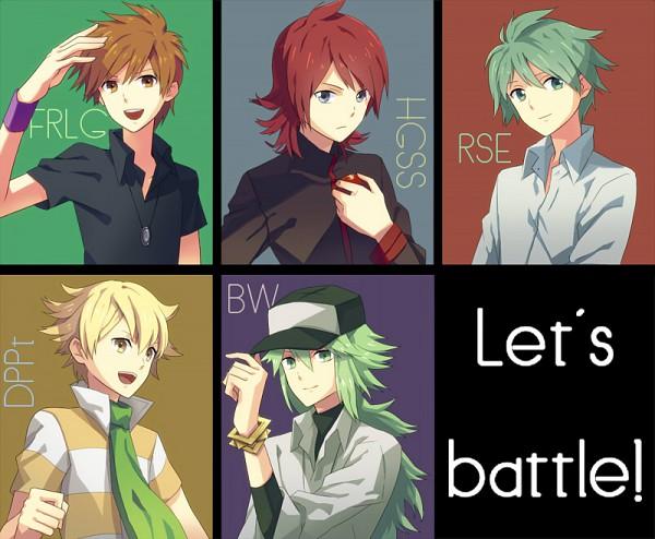 Tags: Anime, Pokémon, N (Pokémon), Jun (Pokémon), Green (Pokémon), Silver (Pokémon), Mitsuru (Pokémon), Rivals