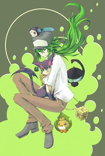 Tags: Anime, Pokémon, Tympole, Lampent, Purrloin, Sewaddle, N (Pokémon), Rubik's Cube
