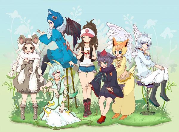 Tags: Anime, Riingo, Pokémon, Victini, Cinccino, Touko (Pokémon), Swoobat, Zorua, Swanna, Serperior, Fanart, Pixiv, Legendary Pokémon