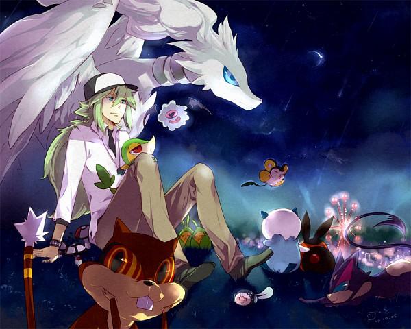 Tags: Anime, Pixiv Id 88976, Pokémon, Woobat, Tepig, Emolga, Reshiram, Swadloon, Purrloin, Tympole, Patrat, Snivy, N (Pokémon)