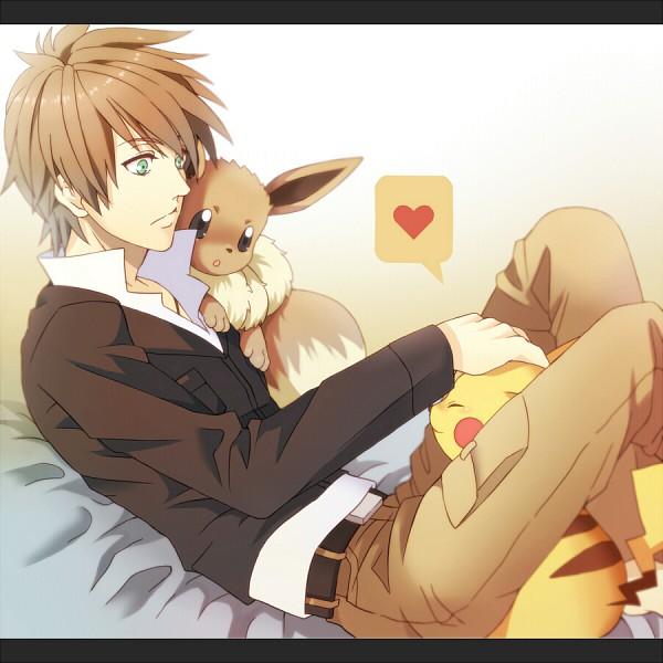 Tags: Anime, 678 (Artist), Pokémon, Green (Pokémon), Eevee, Pikachu
