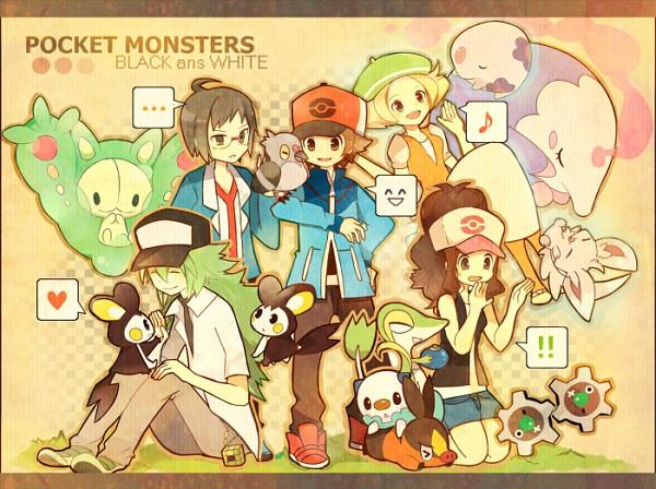 Tags: Anime, Pokémon, Munna, Tepig, Musharna, Minccino, Emolga, Reuniclus, Touya (Pokémon), Touko (Pokémon), Bel (Pokémon), Pidove, Snivy