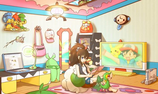 Tags: Anime, Pixiv Id 672463, Pokémon, Gothitelle, Pansear, Satoshi (Pokémon), Bel (Pokémon), Klink, Panpour, Swadloon, Pikachu, Cheren (Pokémon), Darumaka