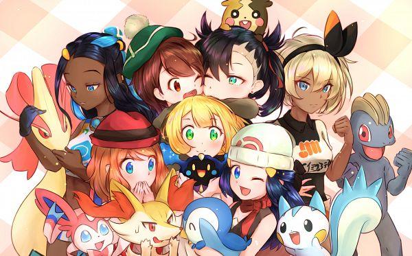 Tags: Anime, Pixiv Id 7074459, Pokémon (Anime), Pokémon Sun & Moon, Pokémon Sword & Shield, Pokémon X & Y, Pokémon Diamond & Pearl, Pokémon, Hikari (Pokémon), Braixen, Yuri (Pokémon), Morpeko, Sylveon