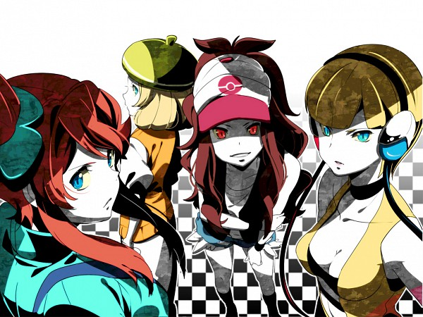 Tags: Anime, Chima Tsuitta, Pokémon, Fuuro, Bel (Pokémon), Touko (Pokémon), Kamitsure, Pixiv, Wallpaper, Fanart, Fanart From Pixiv