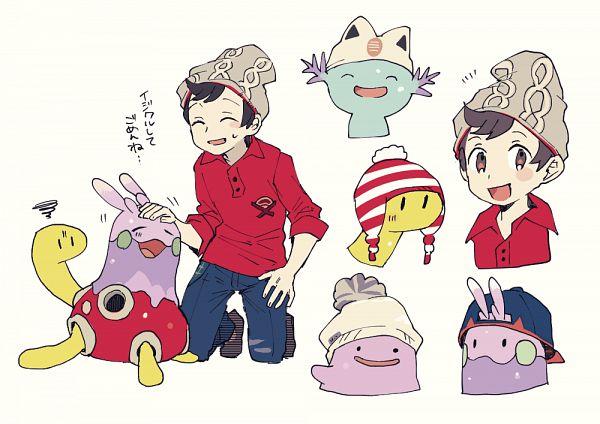 Tags: Anime, Shilla P, Pokémon, Shuckle, Wooper, Goomy, Ditto, Fanart, Fanart From Pixiv, Pixiv