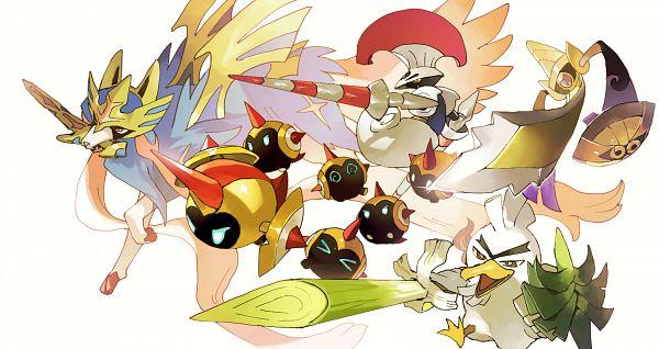 Tags: Anime, Shilla P, Pokémon Sword & Shield, Pokémon, Farfetch'd, Alternate Appearance, Fanart From Pixiv, Fanart, Galar Form, Pixiv