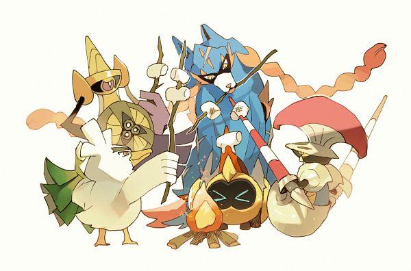 Tags: Anime, Shilla P, Pokémon Sword & Shield, Pokémon, Zacian, Aegislash, Escavalier, Sirfetch'd, Fanart From Pixiv, Fanart, Character Request, Pixiv