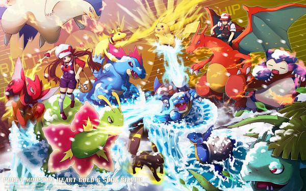 Tags: Anime, Pokémon, Charizard, Umbreon, Snorlax, Red (Pokémon), Pikachu, Blastoise, Kotone (Pokémon), Typhlosion, Ampharos, Venusaur, Lapras