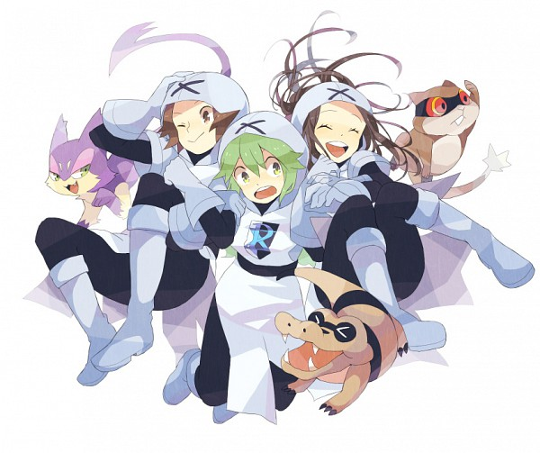 Tags: Anime, T0mare, Pokémon Black & White, Pokémon, Patrat, Touya (Pokémon), Meguroko, N (Pokémon), Purrloin, Touko (Pokémon), Plasma-dan Shitappa (Cosplay), Team Plasma