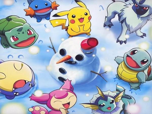 Tags: Anime, Nintendo, GAME FREAK, Pokémon, Pikachu, Bulbasaur, Mudkip, Skitty, Squirtle, Spheal, Vaporeon, Absol, Official Art