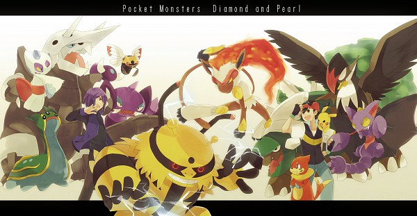 Tags: Anime, Kirakirahoshi, Pokémon, Torterra, Staraptor, Tropius, Shedinja, Satoshi (Pokémon), Drapion, Infernape, Electivire, Pikachu, Aggron