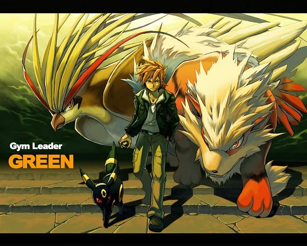 Tags: Anime, Pokémon, Arcanine, Green (Pokémon), Umbreon, Pidgeot, Wallpaper