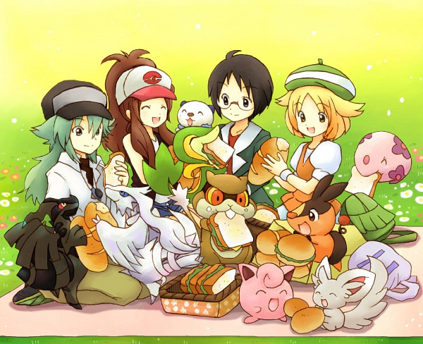 Tags: Anime, Eijima Moko, Pokémon, Touko (Pokémon), Munna, Snivy, Jigglypuff, Patrat, Minccino, Oshawott, Bel (Pokémon), Zekrom, Tepig