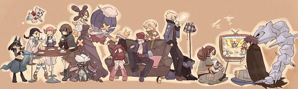 Tags: Anime, Hizuki (Artist), Pokémon, Denji (Pokémon), Suzuna (Pokémon), Jun (Pokémon), Roserade, Steelix, Sumomo (Pokémon), Hyouta (Pokémon), Lucario, Luxray, Natane (Pokémon)