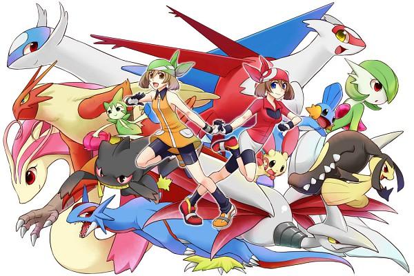 Tags: Anime, Pokémon, Salamence, Mudkip, Plusle, Roselia, Haruka (Pokémon), Gardevoir, Latias, Skarmory, Milotic, Blaziken, Latios