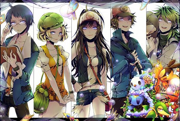 Tags: Anime, Notachibana, Pokémon, N (Pokémon), Tepig, Touko (Pokémon), Touya (Pokémon), Bel (Pokémon), Snivy, Cheren (Pokémon), Oshawott, Pixiv