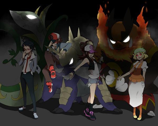 Tags: Anime, Pixiv Id 2208069, Pokémon, Samurott, Serperior, Bel (Pokémon), Cheren (Pokémon), Emboar, Touko (Pokémon), Pixiv, Fanart