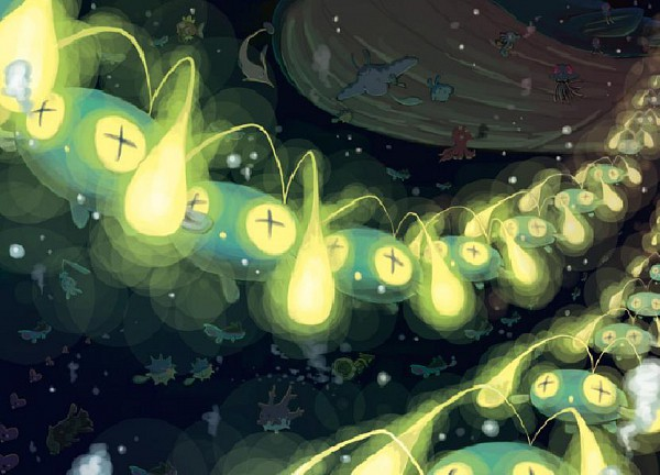 Tags: Anime, Pixiv Id 168548, Pokémon, Tentacruel, Octillery, Remoraid, Chinchou, Finneon, Corsola, Qwilfish, Gorebyss, Mantine, Luvdisc
