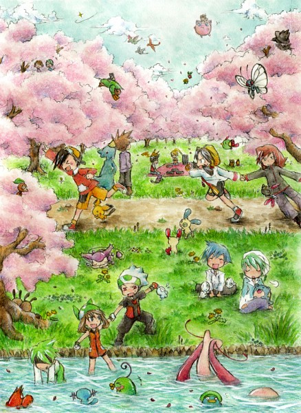 Tags: Anime, Kazaori, Pokémon SPECIAL, Pokémon, Murkrow, Haruka (Pokémon), Raticate, Butterfree, Tropius, Plusle, Hibiki (Pokémon), Nuzleaf, Politoed