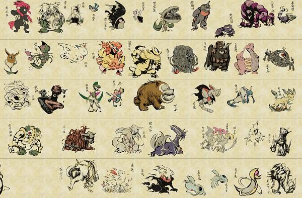 Tags: Anime, Nojo, Kirby Series, Pokémon, Lumineon, Porygon-z, Azelf, Arceus, Yanmega, Rotom, Waddle Doo, Snover, Glaceon