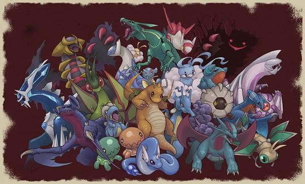 Tags: Anime, Yorujisa Yuuto, Pokémon, Vibrava, Dragonair, Rayquaza, Shelgon, Swablu, Garchomp, Gible, Salamence, Gabite, Dragonite